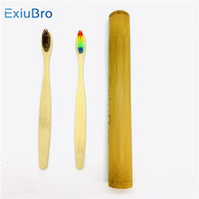 Soft Bristles BPA Free Bamboo Toothbrushes  eco-friendly toothbrush Cases Natural Biodegradable travel holders