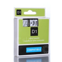 Cidy 40910 Compatible Dymo D1 manager 9mm Black on clear used for Dymo Label Printer