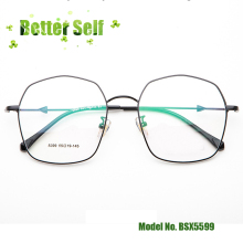 купить Fashion Big Frame Glasses Arrow Decorated Temple Alloy Optical Eyeglasses Quality Metal BSX5599 Square Spectacles по цене 1368.62 рублей