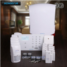 HOMSECUR (Pyccknn/FR/DE/ES Menu Adjustable) Wireless&wired WCDMA/GSM Home Security Alarm System +IOS/Android APP