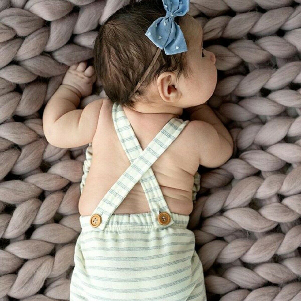 HTB1gUmLQpYqK1RjSZLeq6zXppXaS Newborn Baby Girl Boy Backless Striped Ruffle Romper Overalls Jumpsuit Clothes Onesies kid clothing toddler clothes baby costume