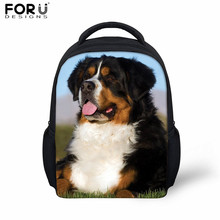 FORUDESIGNS Kindergarten Schoolbag Bernese Mountain Dog Baby Boys Nursery School Book Bag Children Animal Schoolbags Backpack