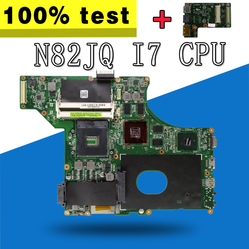 send board+N82JQ Motherboard I7 CPU HM55 For ASUS N82J N82JA N82JQ Laptop motherboard N82JQ Mainboard N82JQ Motherboard test OK send i5 cpu n73sv laptop motherboard 8 memory gt 425m 1gb 3 ram slot for asus n73sv n73s n73sm motherboard mainboard test ok