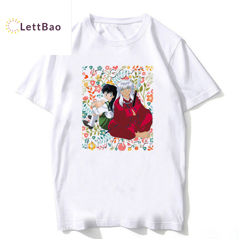 Japanese anime inuyasha Hot summer 2019 New Fashion O-Neck cotton short Sleeve vintage T Shirt Men Trend Casual funny T Shirts