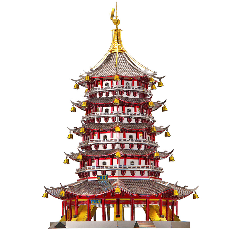 3D Metal Puzzles Model Colorful Lei Feng Tower Building Children Manually Jigsaw Desktop Display Educational Toys Holiday Gifts lei 006136 page 3 href