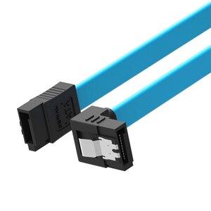 Image 2 - 1 PC גבוהה מהירות ישר ימין זווית 6 Gbps 50 CM SATA 3.0 כבל 6 GB/s SATA III SATA 3 כבל שטוח נתונים כבל עבור HDD SSD