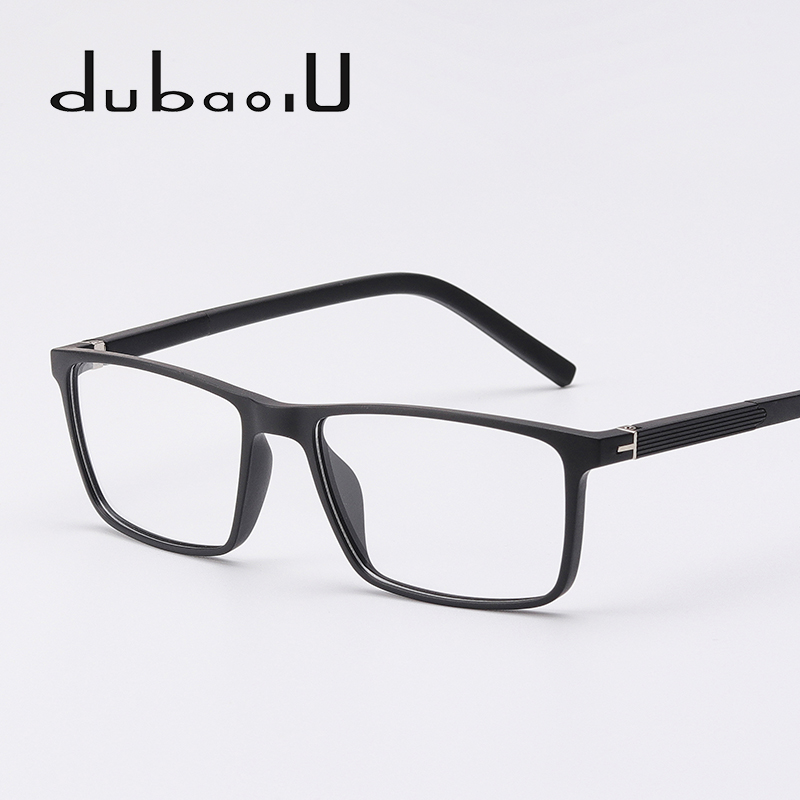 TR90 Glasses Frame Vintage Retro Rectangle Prescription Transparent Optical Myopia Computer Eyeglasses Frames For Men #MZ05-15