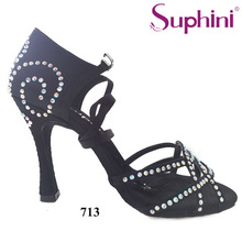 Free Shipping Suphini Comfortable Dance Shoes Latin Salsa Shoes High Heel Summer Woman Dance Shoes