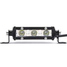 4 »9 W работы свет лампы бар 3LED 6000 K пятно луча автомобилей Work свет бар прожектор потока лампа для бездорожья ATV внедорожник 4WD стайлинга автомобилей