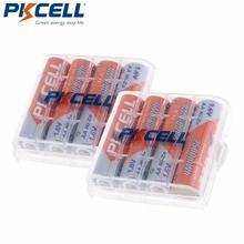 8Pcs/PKCELL NIZN 1.6V 2500MWH AA Rechargeable Battery 2A Batteries Baterias Bateria and 2Pcs Battery Hold Case Box