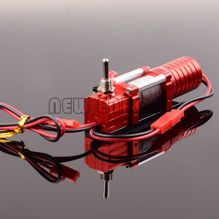 1 10 RC D90 SCX10 Truck ELECTRIC WINCH W SWITCH Metal Housing Rock Crawler