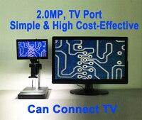2 0MP Microscope Digital Camera With LED TV Port For IPhone Phone PC PCB BGA Logic