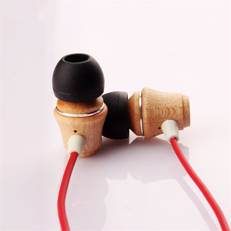 High Quality Real Wood 3.5mm In Ear Earphone DIY Wooden DJ Headset Pure Wood Heavy Bass Music HIFI Earbuds for Mobile Phone Mp3 100% original high quality stereo bass headset in ear earphone handsfree headband 3 5mm earbuds for phone mp3 player