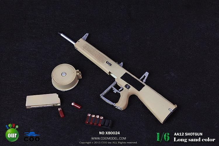 AA12 Shotgun Model 1/6 Scale Màu Cát Dài/Phiên Bản Ngắn cho Soldier Action  Figures Phụ Kiện trong AA12 Shotgun Model 1/6 Scale Màu Cát Dài/Phiên Bản  Ngắn ...