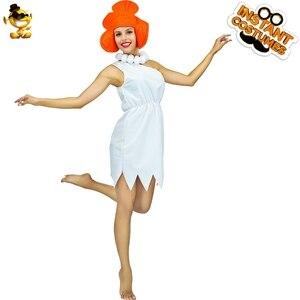Женский костюм для вечеринки DSPLAY Wilma Flintstone, карнавальный костюм для женщин, новый дизайн, сексуальное платье для косплея