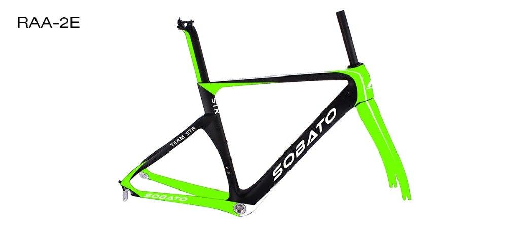 SOBATO Bicycle XXS XS S M L XL Carbon Road Frame China BSA BB30 PF30 T1000