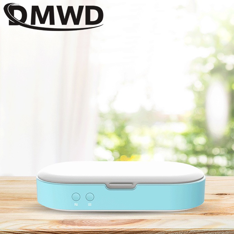 DMWD Antibacteria UV Sterilizer Phone MP3 Toothbrush Underwear Sterilizing Cleaner Nail Cosmetic USB Disinfection Box Cabinets