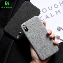 FLOVEME Retro Linen Cloth Phone Case For iPhone 6 6S 7 8 Plu