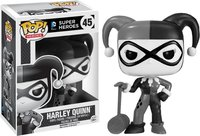Exclusive Official Funko pop DC Comics: Harley Quinn Black and White Vinyl Action Figure Collectible Model Toy with Original Box
