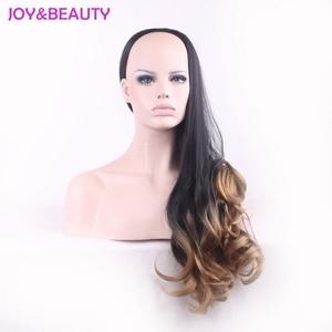 Image 3 - Peluca de pelo largo ondulado resistente al calor JOY & BEAUTY, pelucas sintéticas, negro, marrón, ombre 3/4, peluca de mujer de 60cm