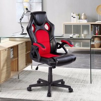 Giantex PU Leather Executive Bucket Seat Racing Style Office Chair Computer Desk Task Commercial Furniture HW57402