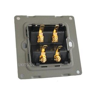 Image 5 - مكبر صوت ذو جودة ألواح للحائط الإطار مع 4 منافذ الموز موصلات ل نظام مسرح منزلي
