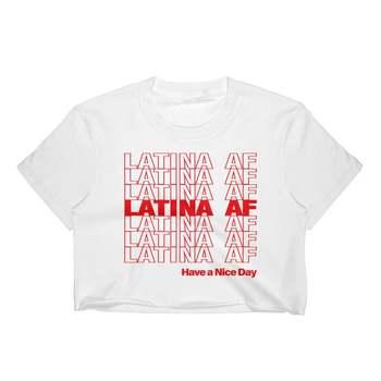Skuggnas New Arrival Latina AF Have A Nice Day Crop Top Latina Clothing Latina Cropped Tops Feminist Shirt Drop Shipping цена 2017