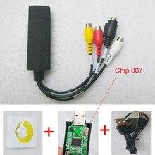 Placa de vídeo USB 2.0 Captura De vídeo e Áudio chipset Chip de 007 TV DVD adaptador de vídeo VHS AV sinal Analógico cartão XP/WIN7/WIN8 Freeship