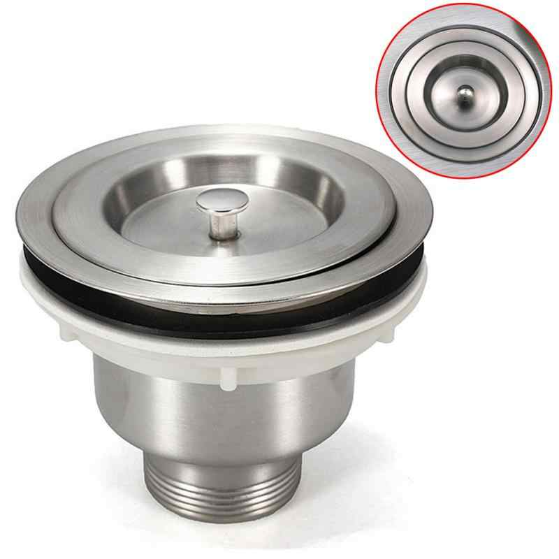 Drop Shipping 1Pc Stainless Steel Strainer and Basket Kitchen Sink Filter  Sewer Drain Strainer Assembly Cover Waste Stopper