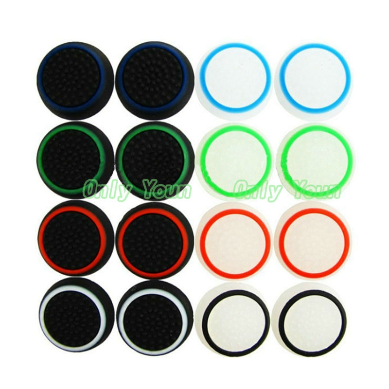 Aipinchun 5Pair Rubber Silicone Thumbstick Thumb Stick Joystick Cap Cover Grip For PS3/PS4/XBOX ONE/XBOX 360 Wireless Controller