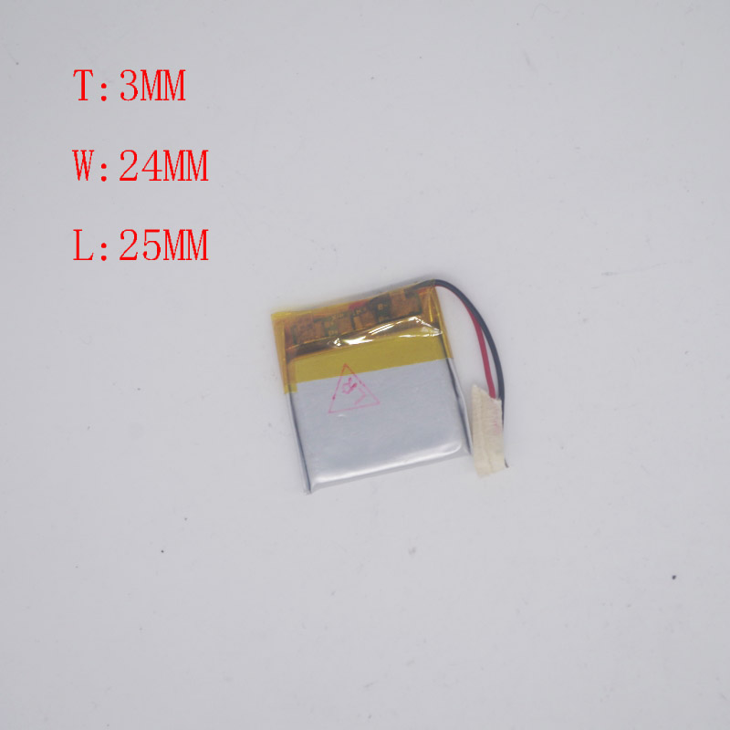 3.7V lithium battery <font><b>302525</b></font>/302425 Mitch MP3 MP4 rechargeable battery 150 Mah image