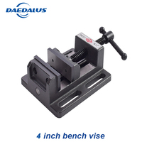4 inch bench vise Aluminium alloy drill vise Fixture worktable mini vise for Clamp Firmly Woodworking hand tool