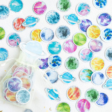 100 pcs/pack Small universe Organza Bag Decorative Adhesive Stickers IY album diary scrapbooking label sticker kawaii stationery new in stock ve j62 iy vi j62 iy