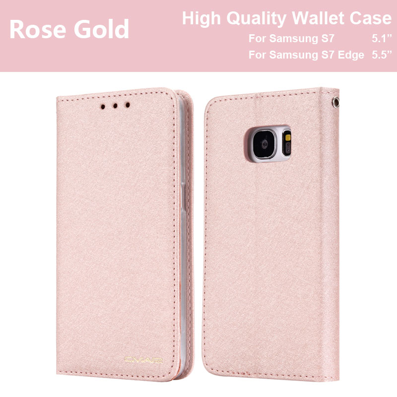 Flip Case Cover For Samsung Galaxy S7 Edge 7 Fundas Wallet Silk Phone Leather Samsung S7 S 7 Coque