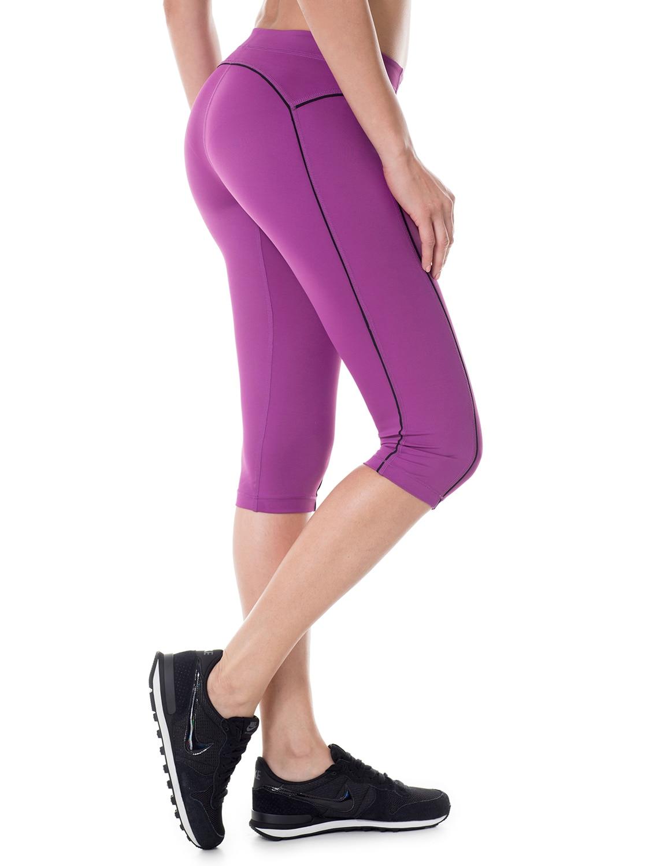 Women's Knee Tight Fit Yoga Running Workout Sports Capri Leggings Pants printed tight sports bottled yoga pants