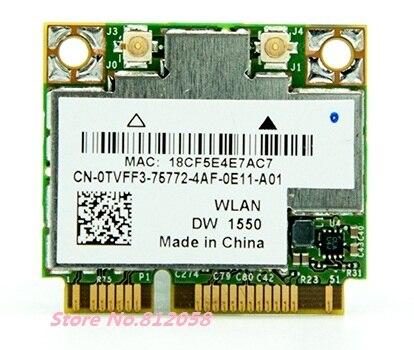 SSEA vente en gros nouveau pour Dell DW1550 Broadcom BCM94352HMB demi Mini PCI-E 802.11AC 867 Mbps WIFI Bluetooth 4.0 carte sans fil