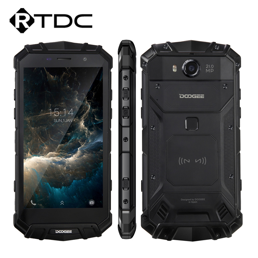 """Original DOOGEE S60 4G LTE Mobile Phone 5.2"""" Helio P25 Octa Core 6GB RAM 64GB ROM Android 7.0 5580mAh 21.0MP IP68 Waterproof NFC-in Cellphones from Cellphones & Telecommunications    1"""