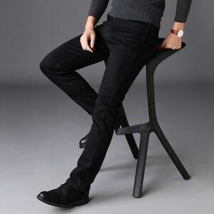 Image 4 - Marki spodnie jeansowe męskie ubrania 2020 nowe czarne elastyczność obcisłe dżinsy rurki Business Casual męskie spodnie jeansowe obcisłe spodnie w stylu klasycznym