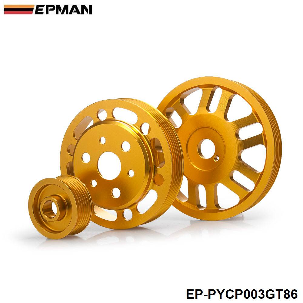 For Toyota GT86 Subaru BRZ Scion FRS Light Weight Crank Pulley Power Steering EP PYCP003GT86