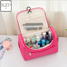 XZP Makeup Bag Solid Women Bags Women Large Waterproof Travel Cosmetic Bag Organizer Case Necessaries Make Up Wash Toiletry Bag lhlysgs brand women double storage large waterproof makeup bag travel cosmetic bag organizer case necessaries wash toiletry bag