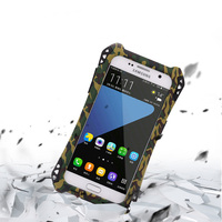 Shockproof Dustproof Carbon Fiber Gorilla Tempered Glass Aluminum Metal Armor Case For SAMSUNG Galaxy S7 S7