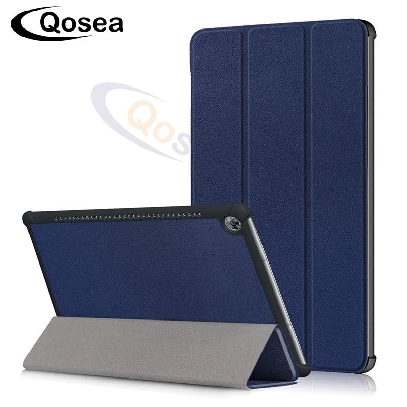 Qosea Pour Huawei Mediapad M5 8.4 pouce Aimant PU En Cuir Stand Smart Case Tablet PC Pour Mediapad M5 10.8 pouce stand Back Cover