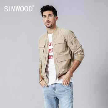 SIMWOOD New 2019 autumn Jacket Men Windbreaker Fashion Casual Coats Slim fit Brand Clothing Plus Size Outerwear 180062 - DISCOUNT ITEM  49% OFF All Category