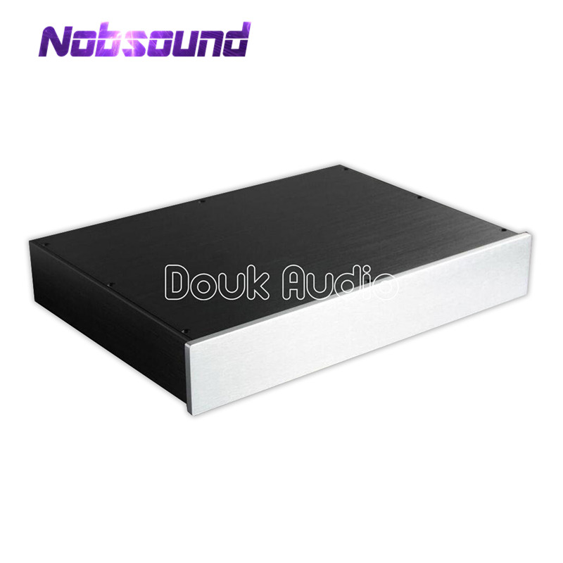 цены на Nobsound Aluminum Chassis Amplifier Enclosure DAC Decoder Box DIY Preamp House