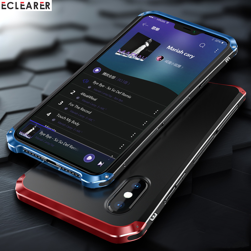 Luxury Shockproof Armor Element Metal Case For iPhone XS Max Cases Hard Aluminium & PC Case For iPhone X XS XS MAX XR Back CoverLuxury Shockproof Armor Element Metal Case For iPhone XS Max Cases Hard Aluminium & PC Case For iPhone X XS XS MAX XR Back Cover