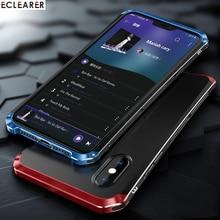 Роскошные противоударный Броня металлический элемент чехол для iPhone XS Max Чехлы жесткий алюминиевый & PC чехол для iPhone X XS MAX XR сзади крышка