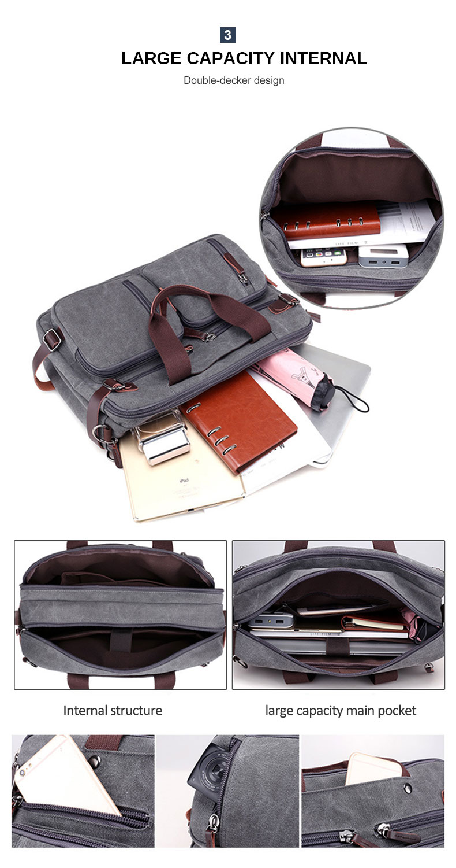 HTB1gUqqaJfvK1RjSspfq6zzXFXa5 Men Canvas Briefcase Business Laptop Handbag Large Messenger Shoulder Bag Big Casual Male Tote Back Bags Travel Suitcase XA162ZC