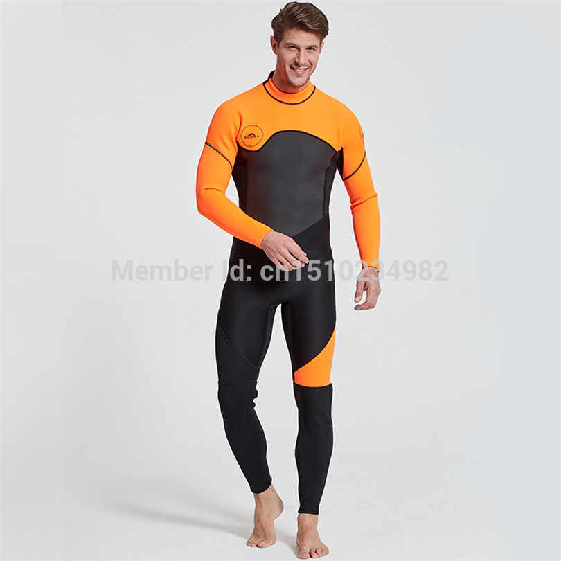 b1ca7edb40 2018 Winter Outdoor Professional Snorkeling Diving Suits Men Swimwear  Rashguard Man One Piece 3MM Neoprene Wetsuit