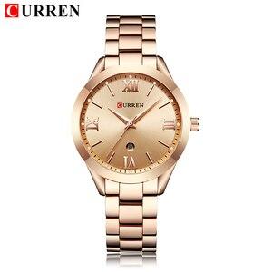 Image 3 - Часы Curren женские из нержавеющей стали, брендовые Роскошные наручные часы цвета розового золота, 2019, 2019