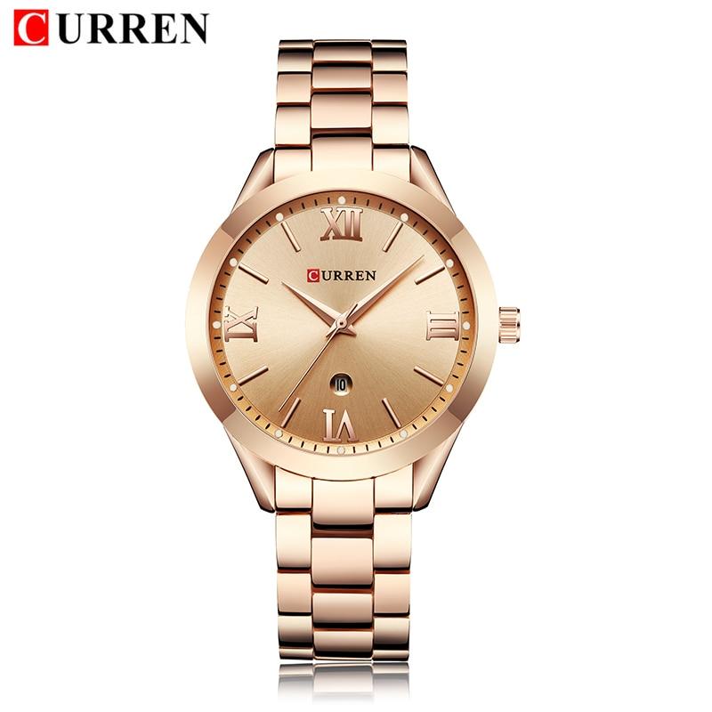 Image 3 - Watch Women 2019 Top Brand Luxury Rose Gold Curren Stainless Steel Watch Women's Wristwatch Clock Women relogio feminino 2019-in Women's Watches from Watches